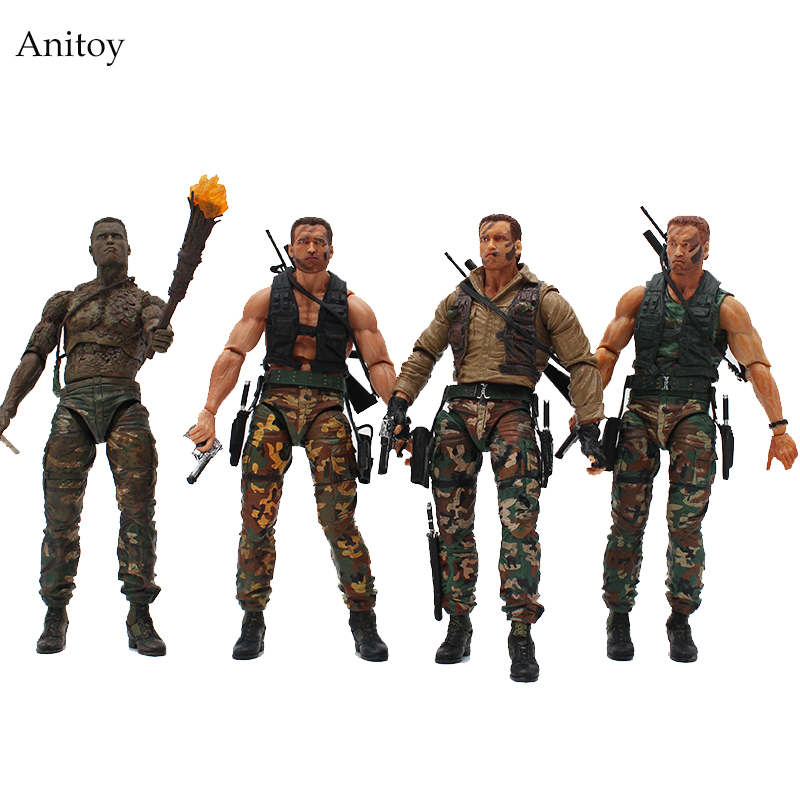 NECA Alien VS Predator 30th Anniversary Jungle Extraction Disguise Dutch Jungle Hunters PVC Action Figure Collectible Model Toys