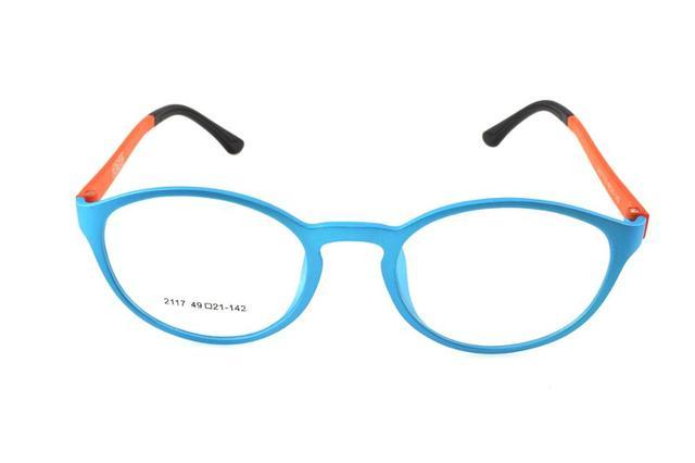 aa1dd241d5 Custom Made Progressive multifocal Bifocal prescription lens Eyeglasses See  Near Far Orange glasses frame spectacle +1To+6ADD
