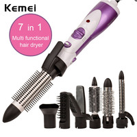 7 In 1 Hair Dryer Professional Electric Hair Styling Tools Styler Brush Comb Nozzle Hair Straightener