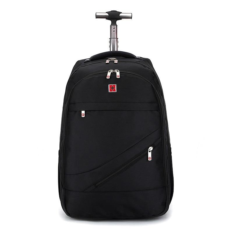 LeTrend Black Oxford Trolley Case Travel bag 18 inch Men