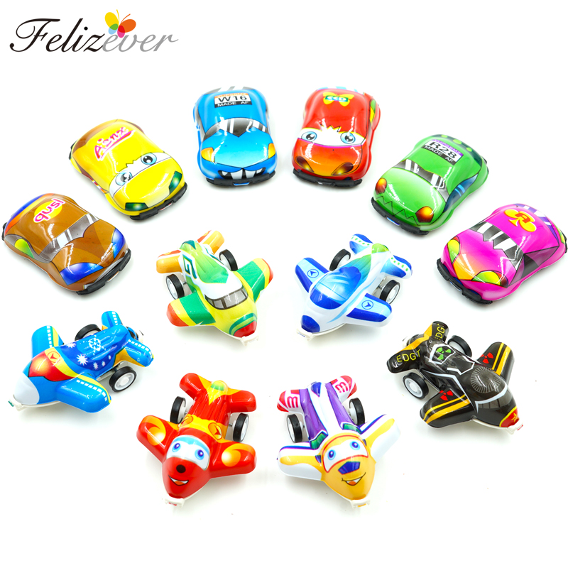 12 PCS Pull Back Mini Cars and Airplane Mix Set Kids Birthday Party Souvenir Pinata Fillers Gift Bag Party Toys Free gift image