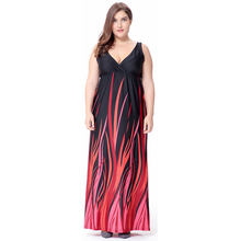 b382c3102a3 Big size 6XL 2018 Summer Woman dress Loose sexy printed long dresses plus  size Fat MM women clothing 6xl holiday beach dress