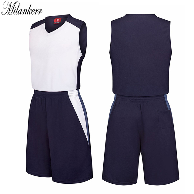 0ed1fc807ade 2018 New Basketball Jersey Sets Uniforms kits Men Sports Clothing Adults  Breathable Training Jerseys Shirts Shorts DIY Custom