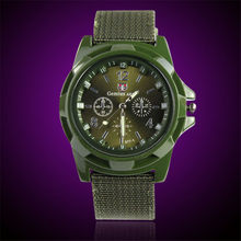 Fashion Men watch Army Racing Force Military Sport Men Officer Fabric Canvas Band Business Quartz Men Watch Relogio Masculino(China)
