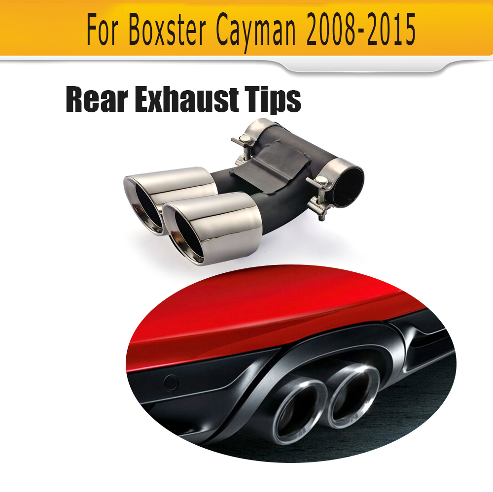 Stainless steel font b Exhaust b font escape tail Pipes for Porsche Boxster Cayman S Hatchback
