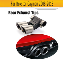 Stainless steel Exhaust escape tail Pipes for Porsche Boxster Cayman S Hatchback 2 Door 2009-2012 Car Styling Sport Style