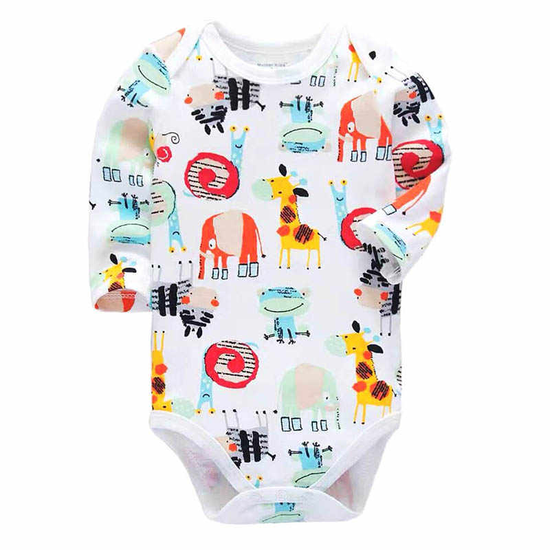 Newborn Baby Clothing 2018 New Fashion Baby Boys Girls Clothes 100% Cotton Baby Bodysuit Long Sleeve Infant Jumpsuit