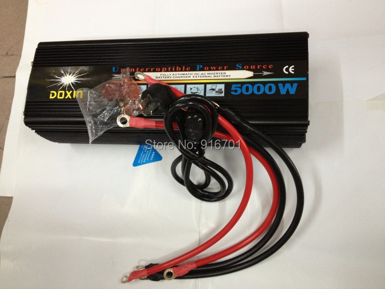 uninterrupted power supply Modified Inverter 5000w Modified Inverter inverter automatic charge 12v to 220v Free shipping