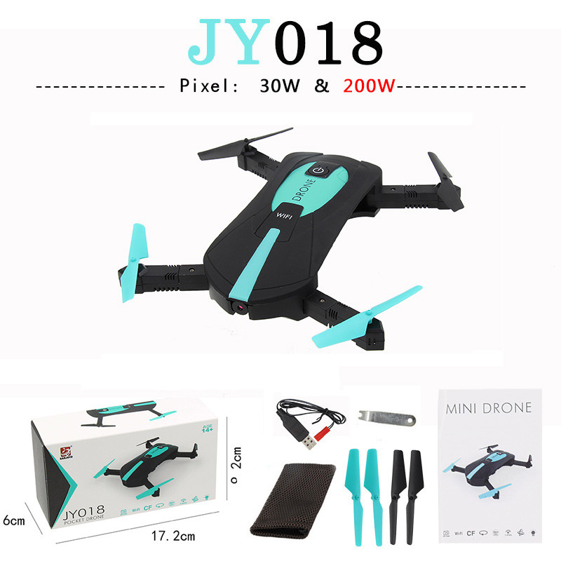 JY018 ELFIE WiFi FPV Quadcopter Mini Headless Model Helicopters with 0.3MP / 2MP Camera HD FPV VS H37 720P RC Quadcopter Parts jy018 elfie wifi fpv quadcopter mini foldable selfie drone rc drones with 0 3mp 2mp camera hd fpv vs h37 720p rc helicopter