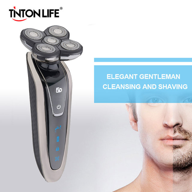 TINTON LIFE 5 Blade Washable Rechargeable Electric Shaver Electric Shaving  Beard Shaving Machine Razor Electric Razor For Men Electric Shavers