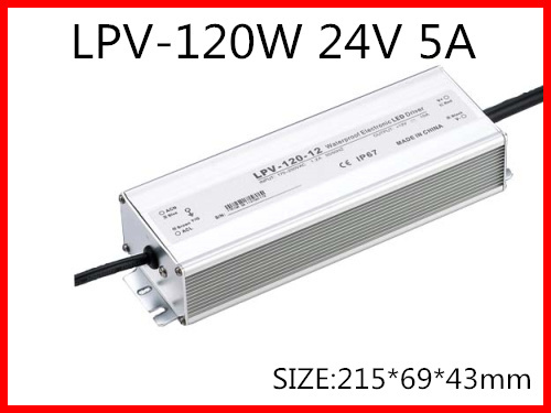 120W 24V 5A LED constant voltage waterproof switching power supply IP67 for led drive LPV-120-24 минипечь gefest пгэ 120 пгэ 120