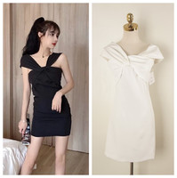 wear sexy female elegant aristocratic ladies dress dress a variety of tees in a word shoulder to shoulder bag hip dress
