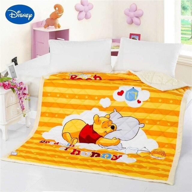 1caf426e86 Winnie the Pooh Colchas Edredons Rainha Completa Gêmeo Único Tecido de  Algodão Tecido Da Cama Meninas