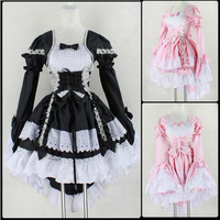 Halloween Costume For Women Girls Sexy Sissy Maid Uniform Sweet Gothic Lolita Dress Anime Maid Cosplay
