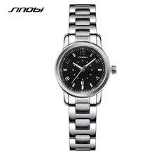 Sinobi mulheres relógio de luxo relógio de ouro mulheres de aço inoxidável completa negócios relógio de quartzo-mulheres montre femme relogio feminino f28