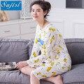Brand Cotton Maternity Dress long maternity pajamas Clothing Pregnant Dress maternity clothes For Pregnant Women hamile pijama