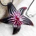 "6Pcs/Lot Purple Lampwork Murano Glass Bead Pendant Necklace 1.9"" HOT"