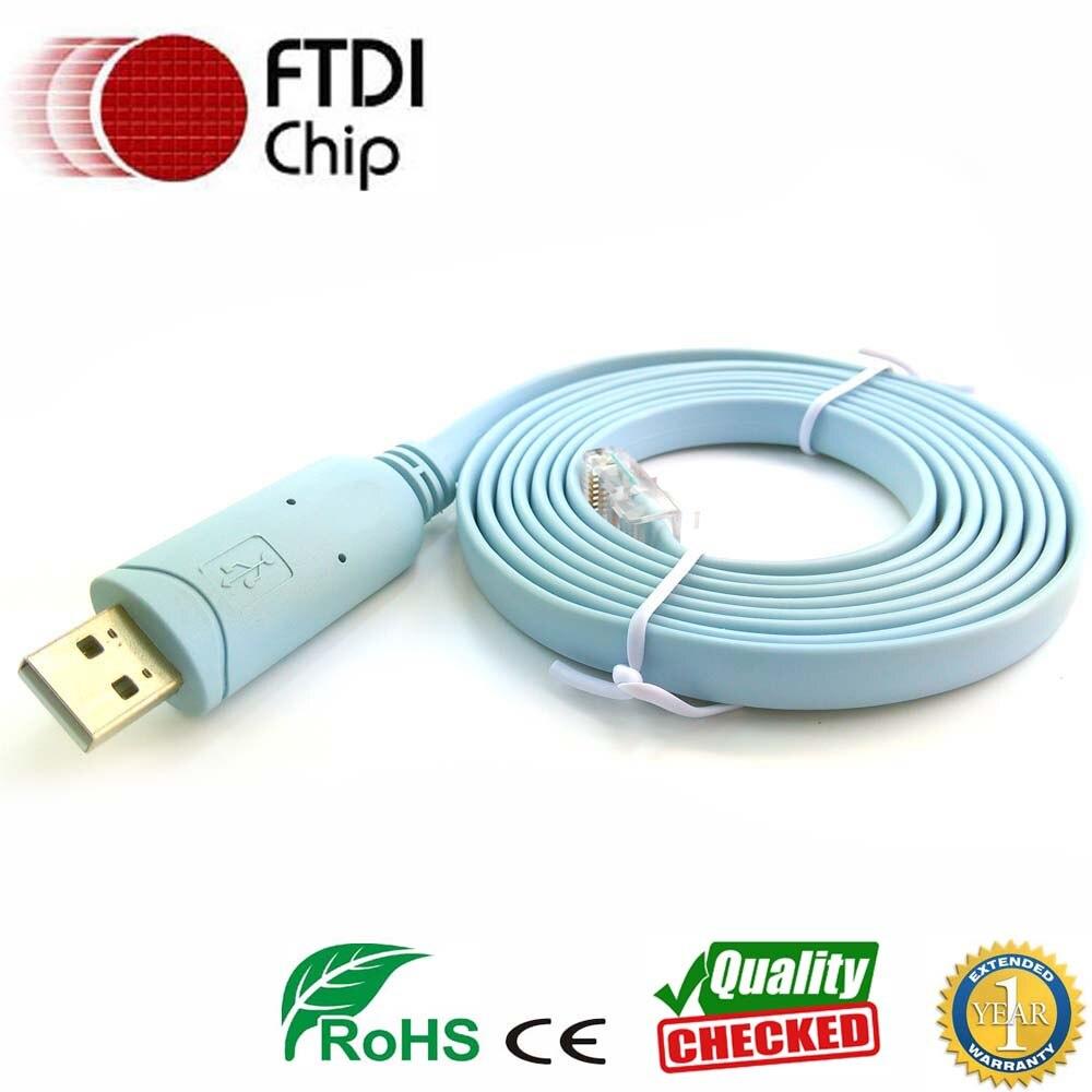 Ftdi usb rs232 rj45 serielle kabel für Cisco H3C HP Arba 9306 huawei router rollover konsole kabel 72- 3383-01