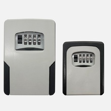 큰 크기 벽 마운트 키 저장소 주최자 상자 4 자리 조합 잠금 예비 키 주최자 상자 금속 비밀 안전 상자