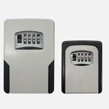 Cajas organizadoras de almacenamiento de llaves montadas en la pared de gran tamaño con cerradura de combinación de 4 dígitos cajas organizadoras para llaves de repuesto caja de seguridad secreta de Metal