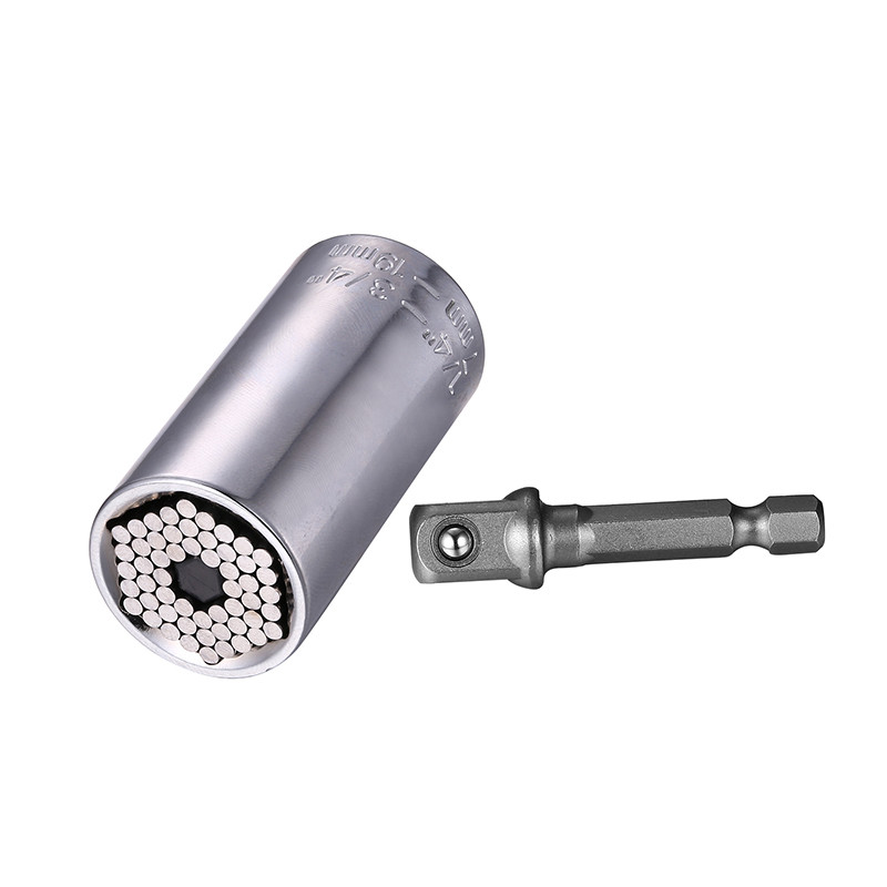 Купить с кэшбэком Drill Bits for Metal Tool Universal Socket Adapter+Power Drill Adapter 2pcs/Set Car Hand Tools Repair Kit Adapter Drill