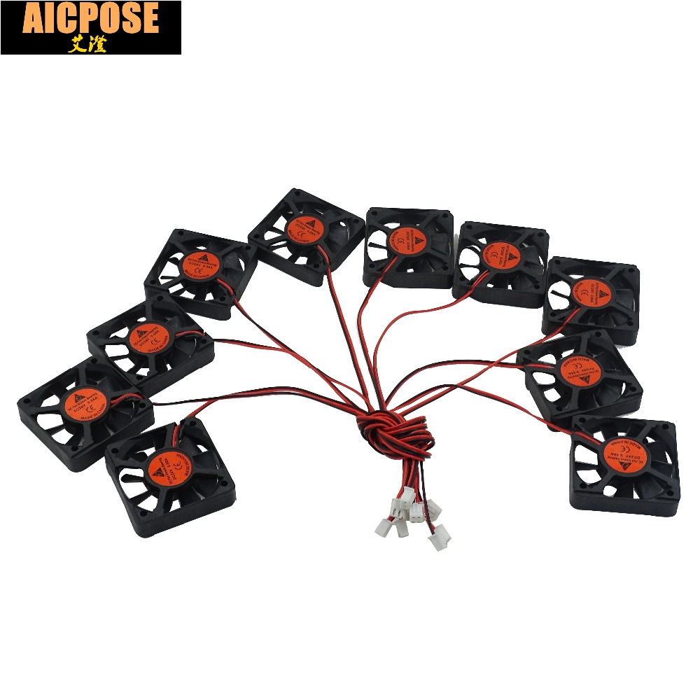 free shipping 10pcs 5x5 Silent fan 12v or 24v and Cable 15cm for use 5x5cm fans <font><b>Led</b></font> <font><b>PAR</b></font> Light Repair <font><b>parts</b></font> image