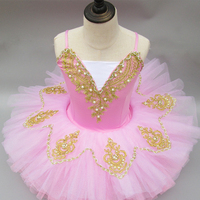 Kids Girls Ballet Tutu Competition Bodysuit Dance Class Costumes Gymnastics Leotard Dancewear with Tied Skirt Stage YY1030 1