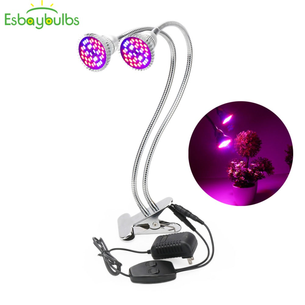 60W 80 Led Grow Light Full Spectrum Hydroponic Lighting With Flexible Holder Clip Plants Phyto-lamp For Indoor Garden Greenhouse