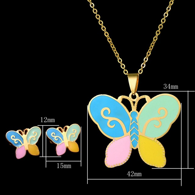 Fashion Kids Jewelry Set Gold Color Chain 2