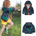 brand Child outerwear hooded windproof waterproof thin outdoor jacket autumn spring knitted lining baby girl/boy jackets coat
