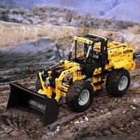New City RC Engineering Tracked Bulldozer Excavator Motor Power Technic Building Blocks Model Set Educational DIY Toys Boy Gift