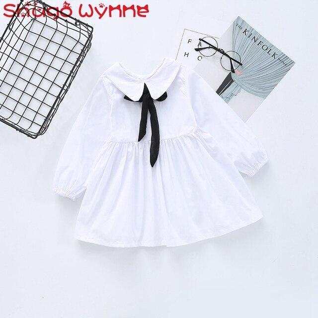bbca3e5bd672 Spring Autumn Cotton Children s Preppy Style Long Sleeve Doll Collor ...