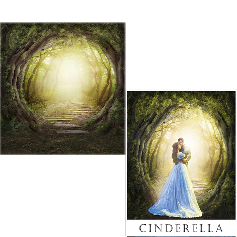 Vinyl Photography Backdrops Fairy Tale Forest Oxford Photo Background For Photo Studio Brown Wood Floor For