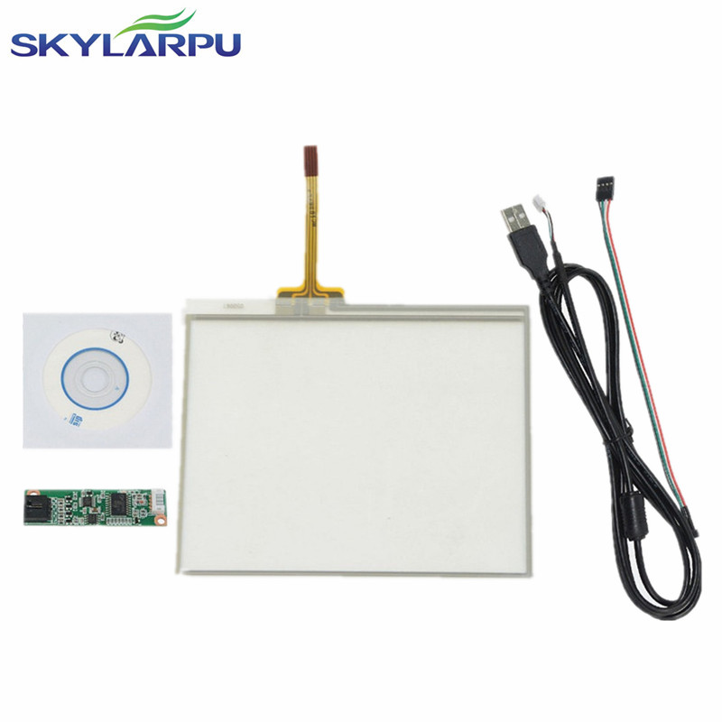 купить skylarpu New 5 Inch 4 Wire Resistive Touch Screen Panel USB Controller 109*89mm Screen touch panel Glass Free shipping онлайн