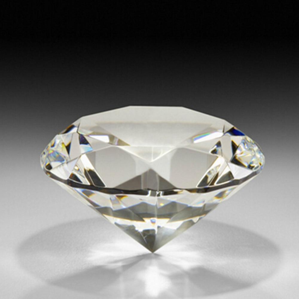 Rørig Diamant Form 10 stücke Transparent 80mm Kristall Diamant IA-75