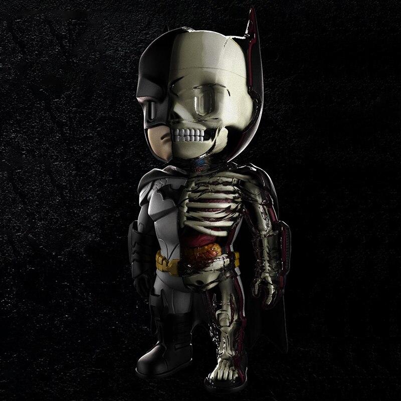 4D XXRAY DC Anime Batman Doll Clown Action Figure KAWS Skeleton Model Decoration Toy Gift robin hood 4d xxray master mighty jaxx jason freeny anatomy cartoon ornament