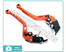 CNC Long Straight Brake Clutch Levers Lever for BMW K1600 K1300 K1200 S R 1200 GS ADVENTURE  ORANGE