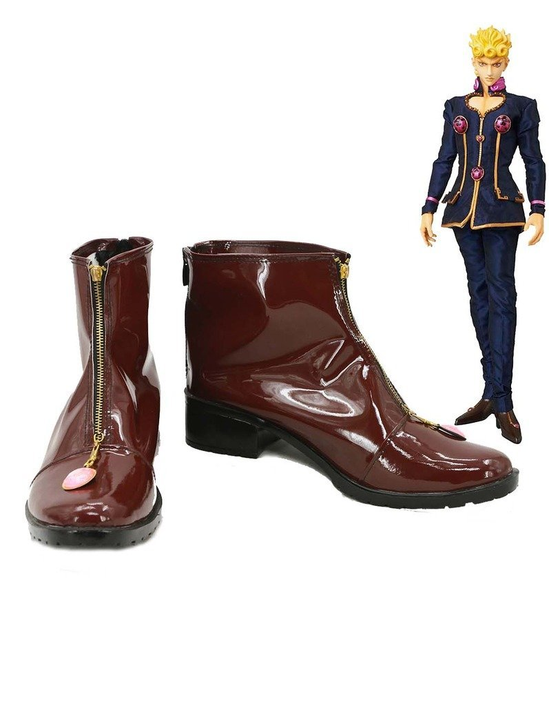 JoJo/'s Bizarre Adventure Giorno Giovanna Cosplay shoes costom made Hot