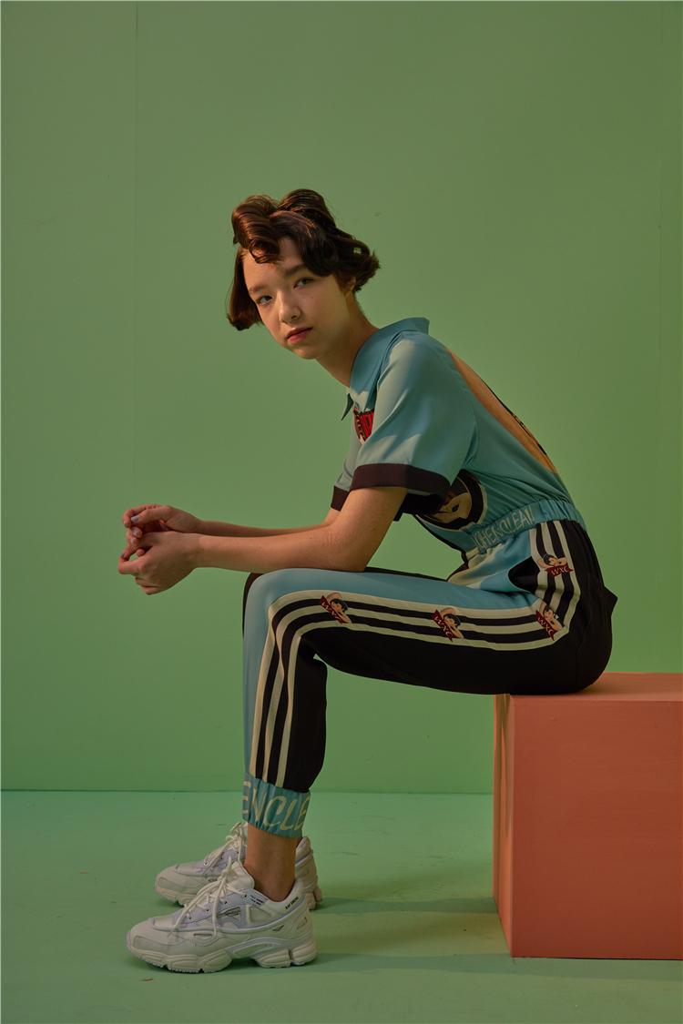 Person - Retro Rockabilly Jumpsuit Elastic Waist Vogue Hipster Rompers Short Sleeve