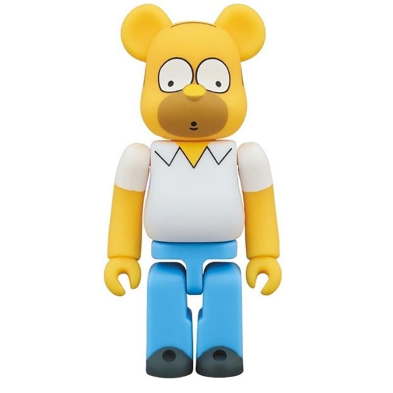 400% Bear@Brick Batman Krusty The Clown The Gloomy Bear Bearbrick PVC Action Figure Original Fake Model Toy L1778 the bravest ever bear