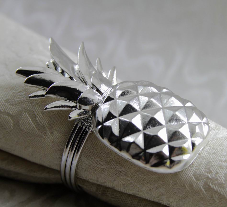 gold silver metal napkin ring pineapple, napkin holder for wedding, napkin  decoration 24 pcs free shipping-in Napkin Rings from Home & Garden on ...