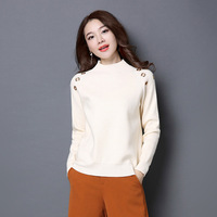 High Quality Autumn And Winer Fashion Pure Color Lady S Long Sleeve Turtleneck Cashmere Sweater Y1127