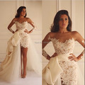 Beautiful White Lace Long Sleeve Straight Appliqued Sheath Above Knee Length With With 2016 Celebrity Dress With Sash