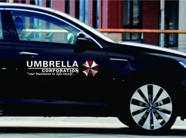Umbrella corporation resident evil zombie logo car stickers vinyl reflective materials creative decoration decal side door