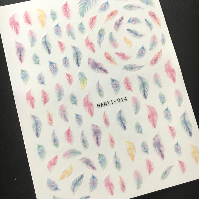 Más reciente 3d etiqueta engomada del arte del clavo SOLONAIL - Arte de uñas
