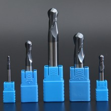 LIJUN 2 flutes 3mm~20mm Solid Carbide Ball Nose End Mills CNC Milling Cutter HRC45 Tungsten Steel