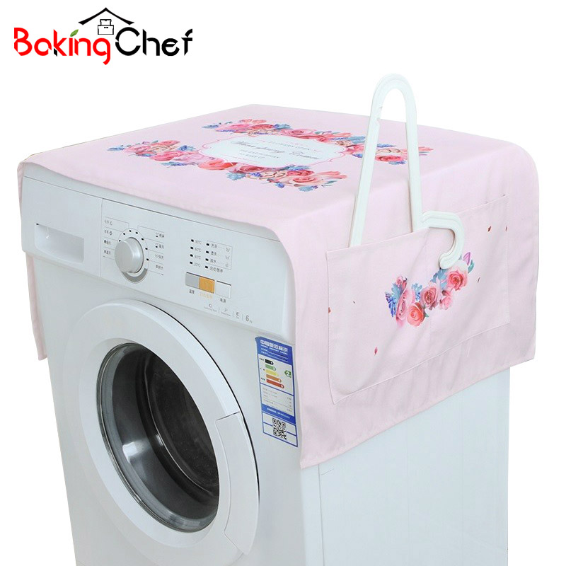 BAKINGCHEF Thicker Printing Dust Cover Washing Machines Refrigerators Cover Towel Cabinet Storage Bag Home Clothes Organization