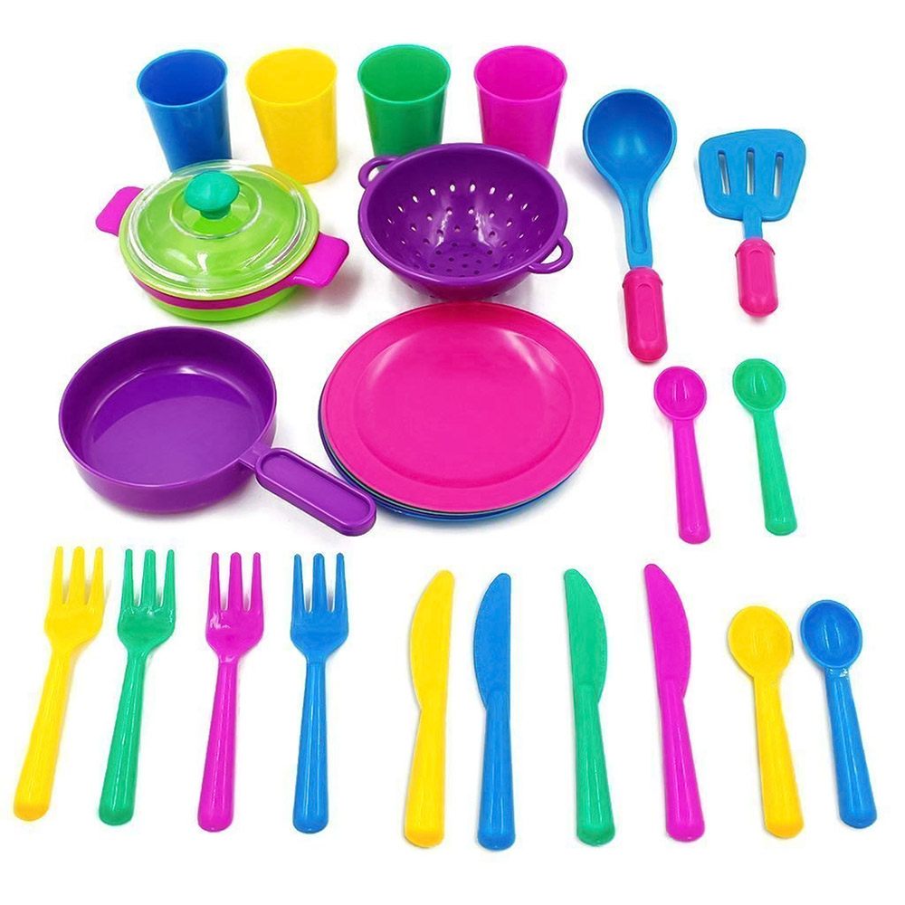 Kitchen Children's Play House Toys Cutlery Set Education Kitchen Cooking Tableware Children Interactive Knowledge Toy