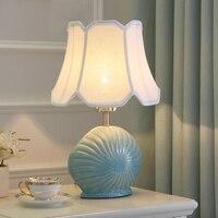 Современные Керамические Светодиодный Настольные лампы творческий дома осветительных приборов спальня исследование керамическая основа