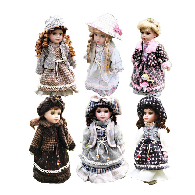 2019 News 30CM European Style Victoria Style Russia Ceramic Classical Doll Noble Porcelain Doll High Quality Toy Gift For Girl